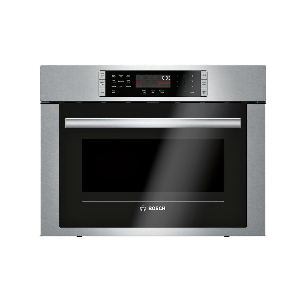 Bosch Microwave Bosch 500 Series 24 In 1 6 Cu Ft Built In Convection Speed Microwave In Stainless Steel With Speedchef Cooking
