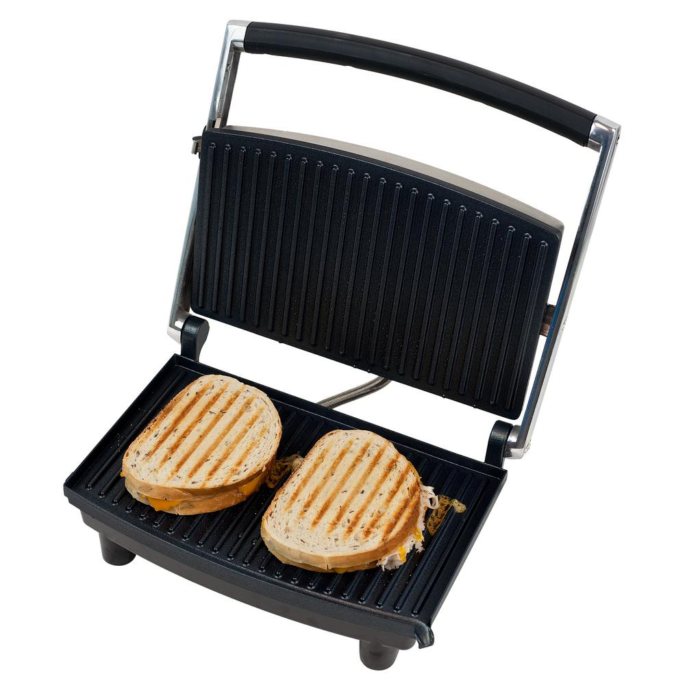 Grille Panini Chef Buddy Non Stick Panini Press 80 1840 The Home Depot