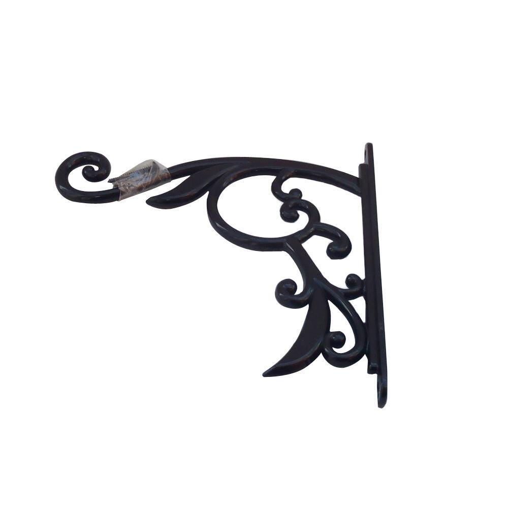 9 In Black Iron Decorative Plant Bracket 753406 The