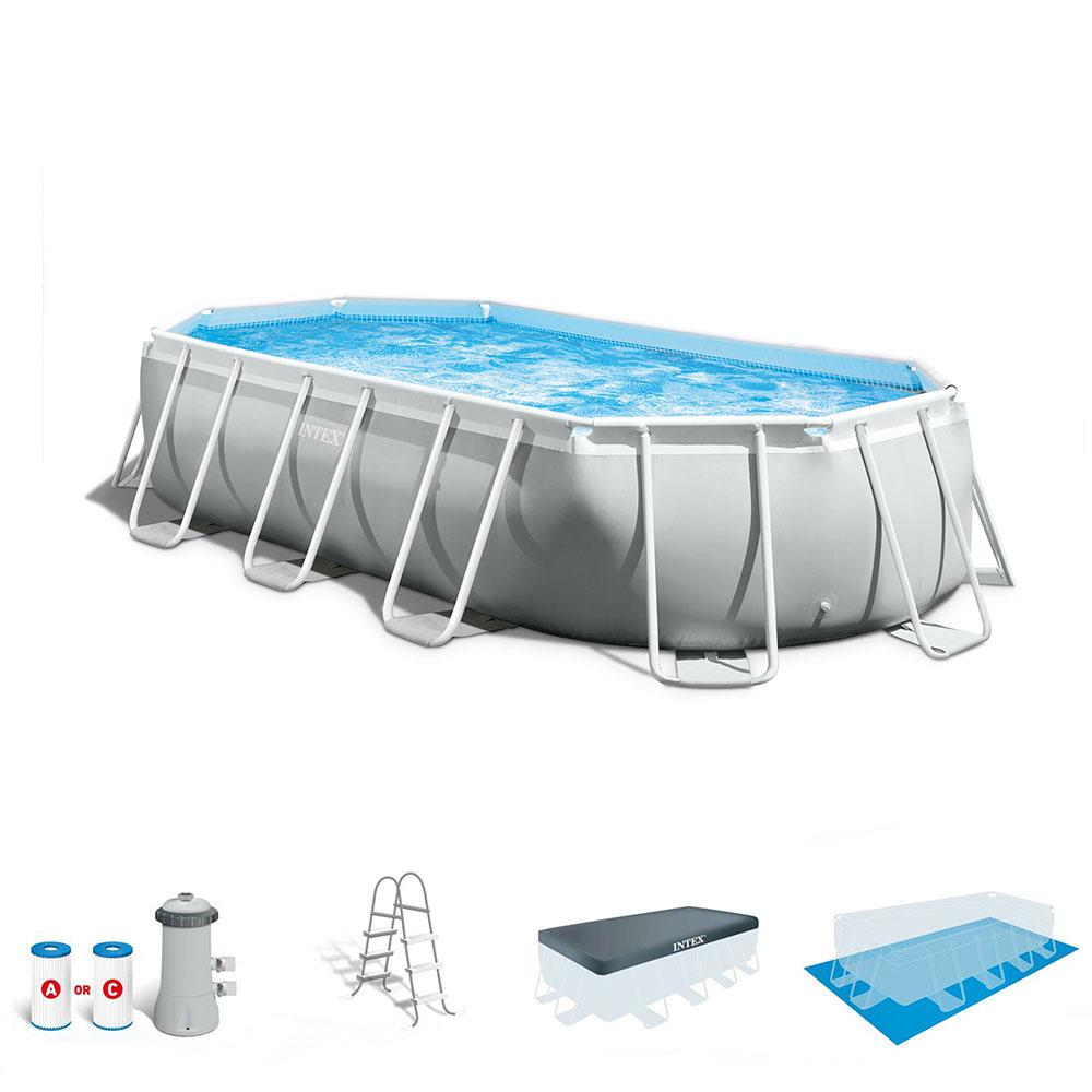 Intex Vs Bestway Review Intex Intex 16 5 X 4 Ft Prism Frame Rectangular Above Ground Swimming Pool Pump Set