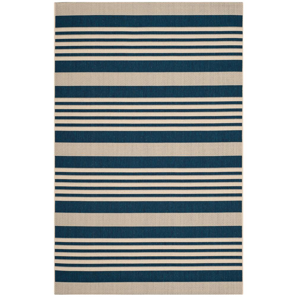 Safavieh Courtyard Safavieh Courtyard Navy Beige 7 Ft X 10 Ft Indoor Outdoor Area Rug