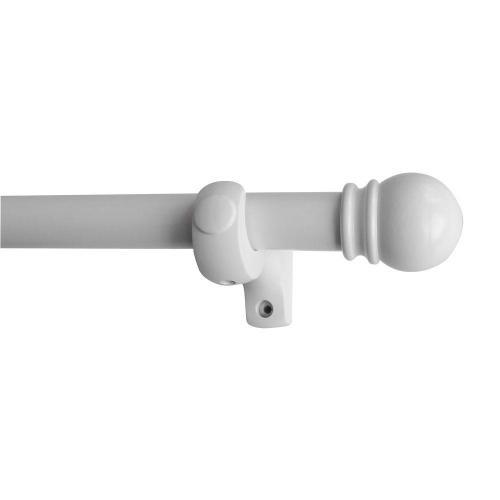 Medium Of White Curtain Rod