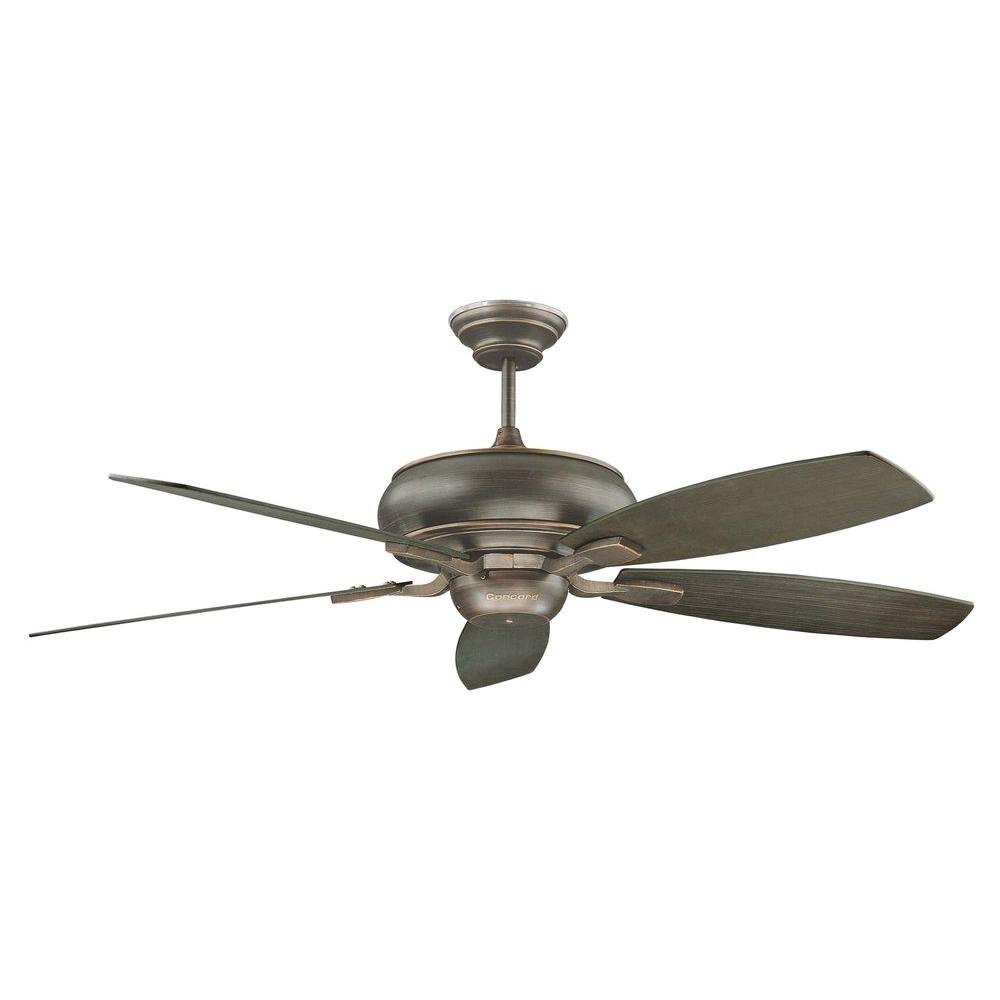 Large Indoor Fans Concord Fans Roosevelt Series 60 In Indoor Oil Bronzed Ceiling Fan