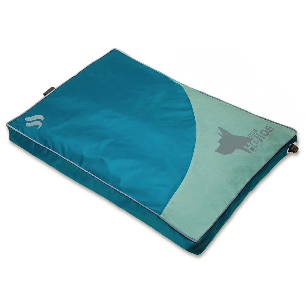 Camping Aero Bed Dog Helios Medium Blue Aero Inflatable Outdoor Camping Travel Waterproof Pet Dog Mat Bed