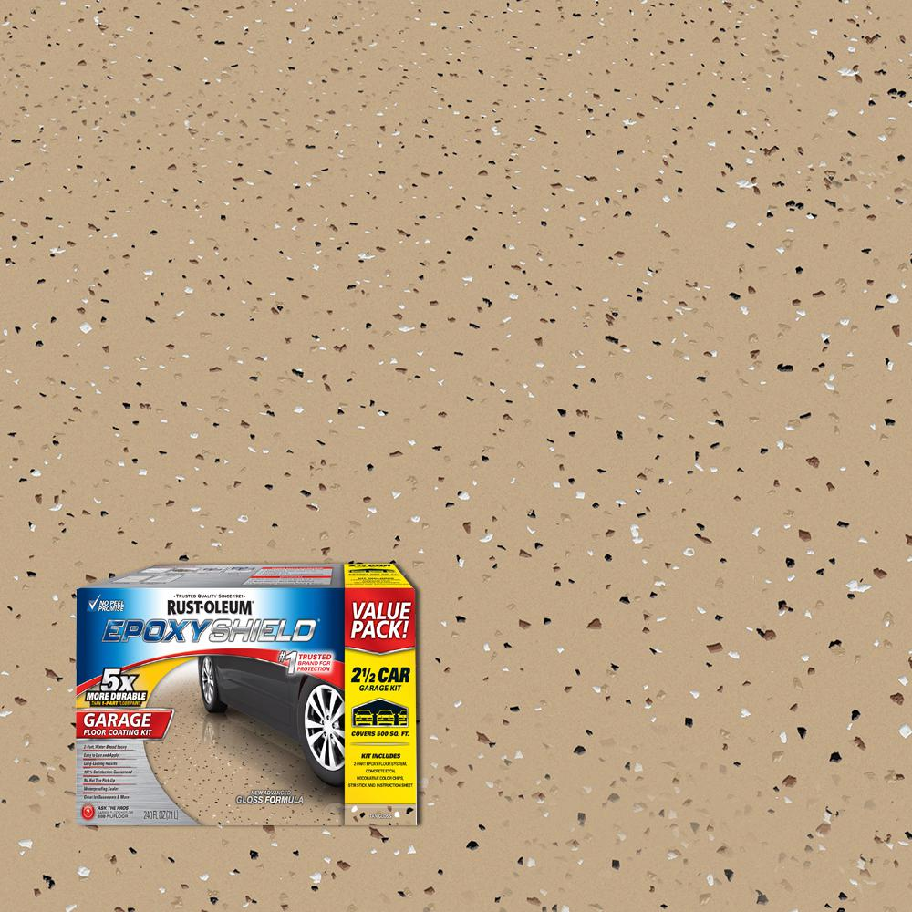 Floor Paint Home Depot 2 Gal Tan Garage Floor Interior Epoxy