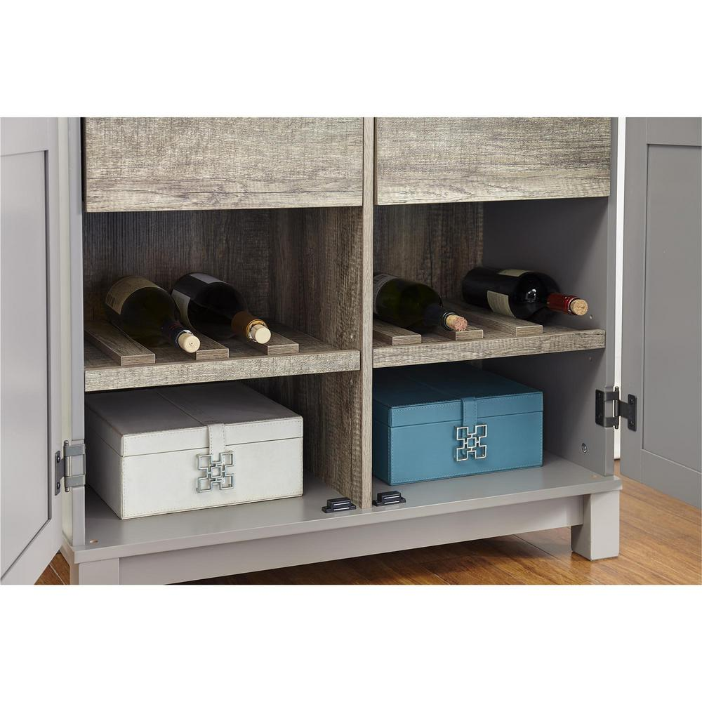 Storage Closet Ameriwood Viola 64 In Gray Sonoma Oak Storage Cabinet