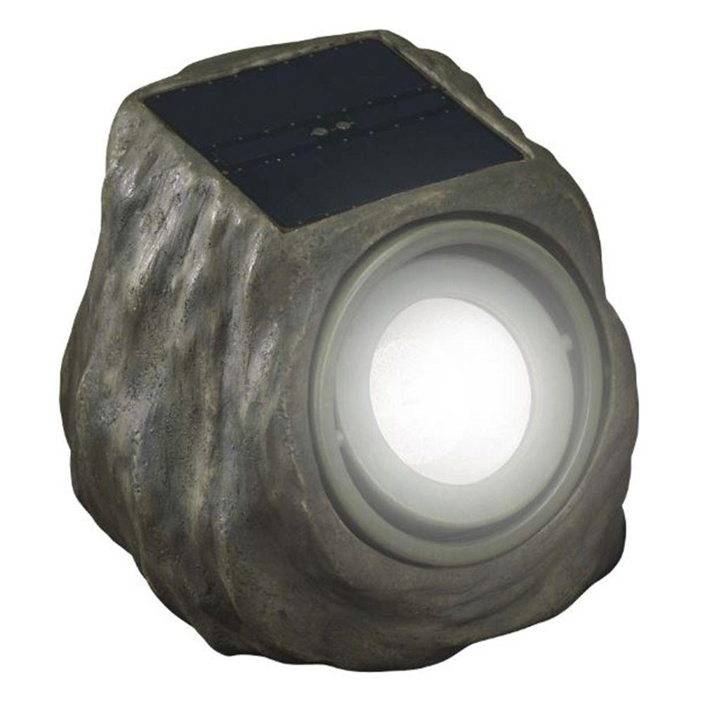 Garden Lights Kopen Duracell Solar Powered Green Rock Outdoor Spot Light