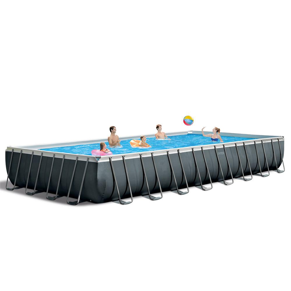 Intex Vs Bestway Review Intex Intex 32 Ft X 16 Ft X 52 In Ultra Xtr Rectangular Swimming Pool Set With Pump