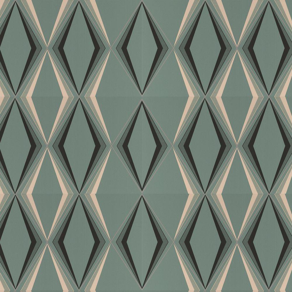 Art Deco Style & Light Graham Brown Deco Diamond Green Wallpaper 50 254 The