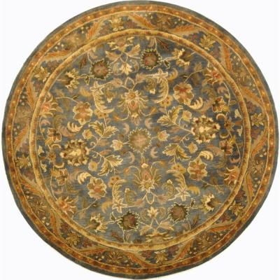 Safavieh Antiquity Blue/Gold 6 ft. x 6 ft. Round Area Rug-AT52C-6R - The Home Depot