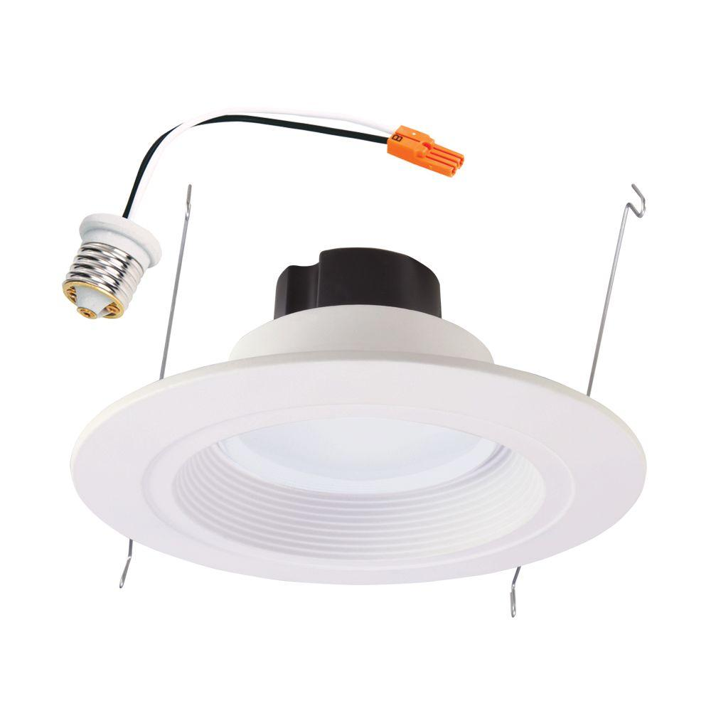 Home Depot Juno Led Lighting Halo Rl 5 In. And 6 In. White Integrated Led Recessed