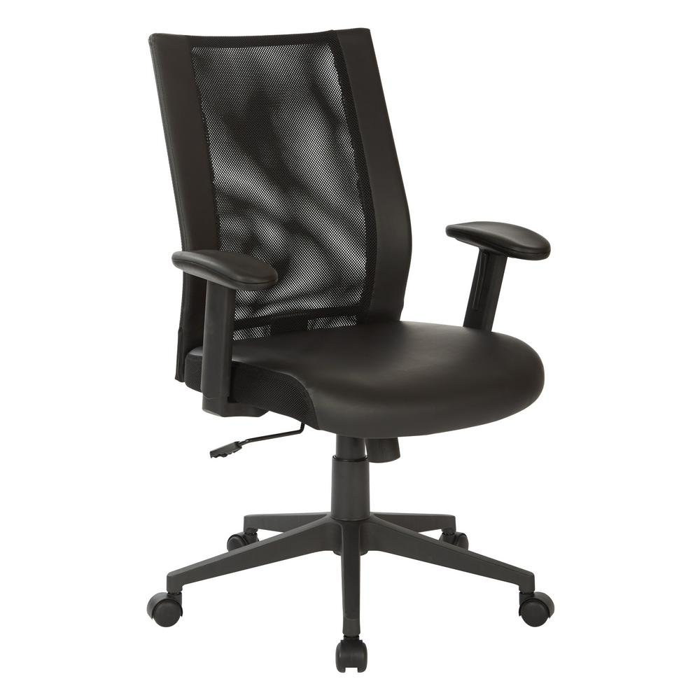 Working Chair Black Mesh Manager S Chair With Angled Nylon Base