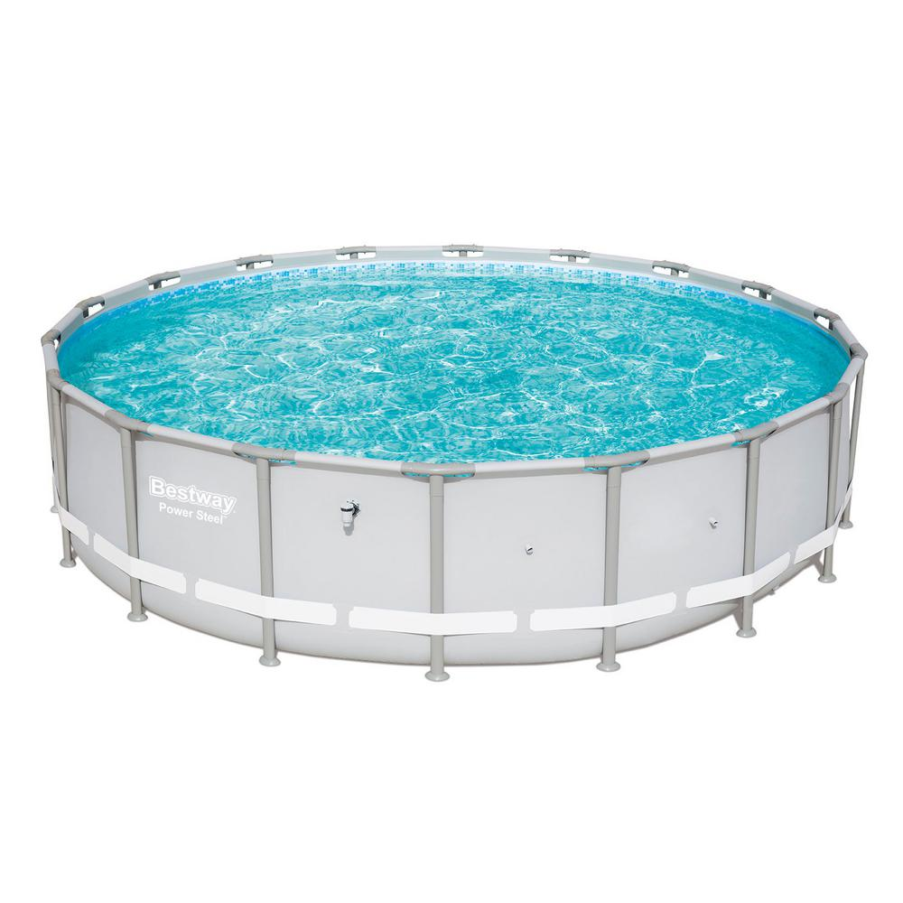 Pool Frame Rund Bestway 18 Ft. X 48 In. D Power Metal Frame Round Above