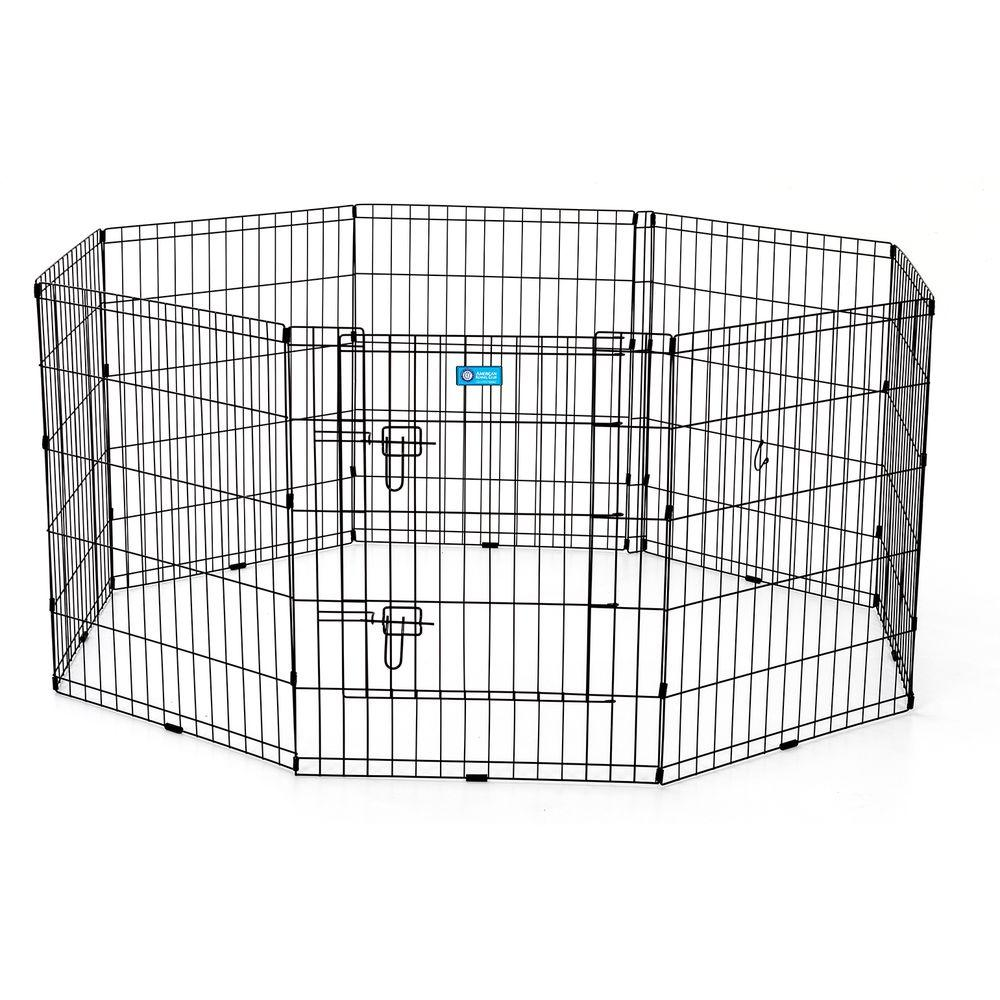 Perfect Dual Latch Door Dog Pens Gates Dog Houses Kennels Home Depot Portable Dog Pen Panels Portable Dog Pen Camping Pet Exercise Pen houzz-02 Portable Dog Pen