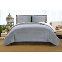 Christian Siriano Crinkle Velvet Platinum King Comforter ...