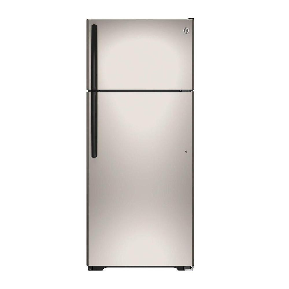 Home Depot Fridges Canada 17 5 Cu Ft Top Freezer Refrigerator In Silver Energy Star