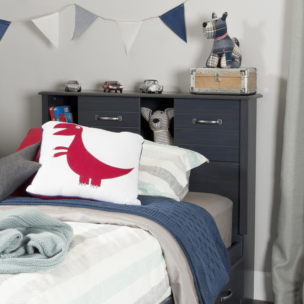 Kids Headboards South Shore Ulysses Blueberry Twin Kids Headboard 10360 The Home
