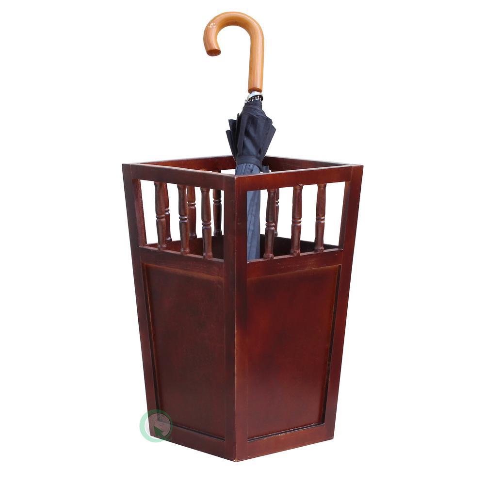 Vintiquewise Roman Brown Umbrella Stand Qi003080 The