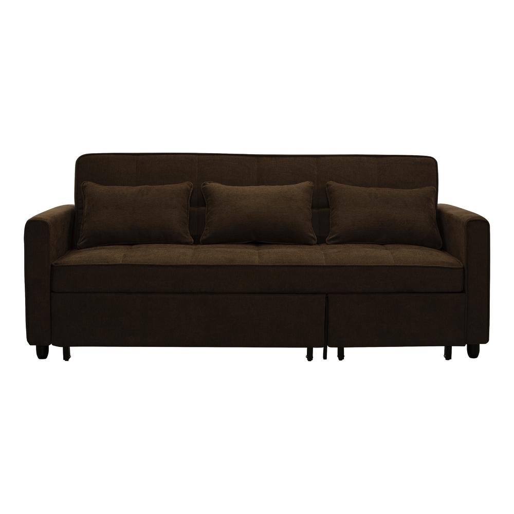 Relax Couch Relax A Lounger Salinas Dark Brown Convertible Sofa-skl