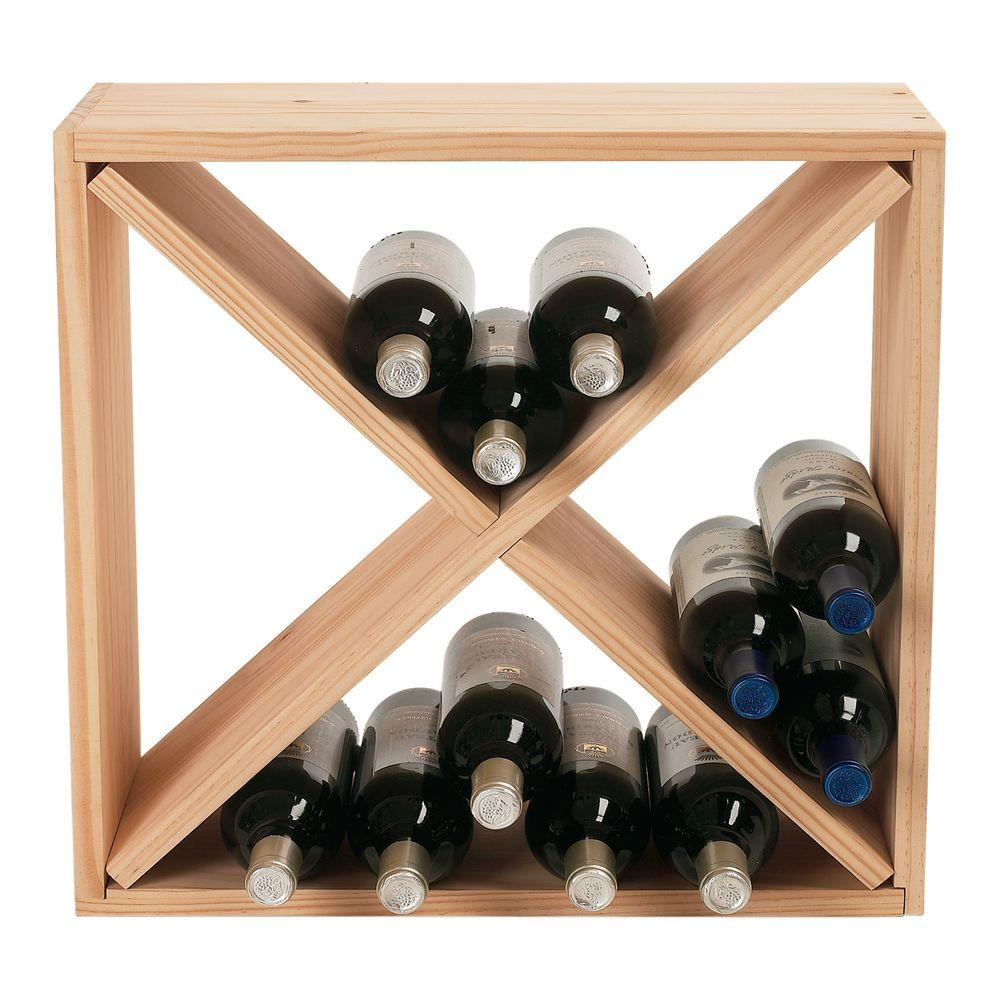 Pretty Wine Racks 24 Bottle Compact Cellar Cube Wine Rack In Natural