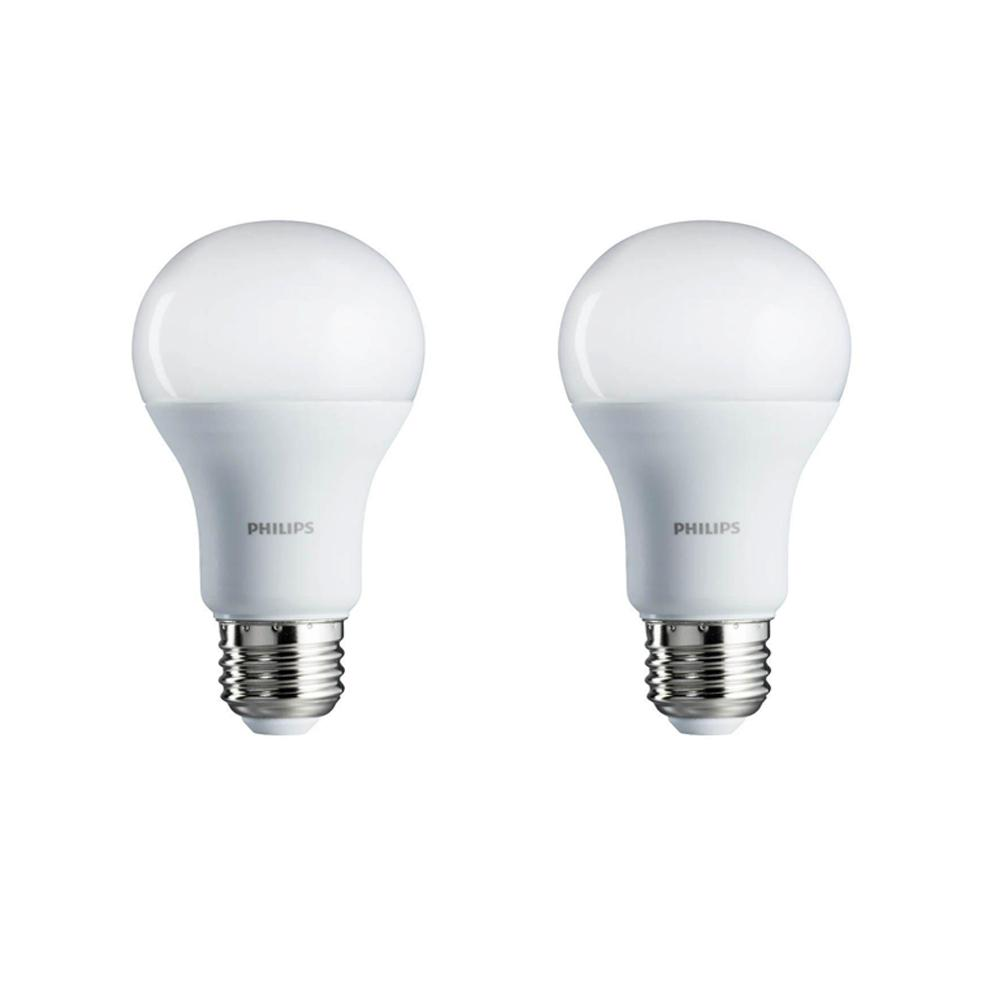 Philips Softone Flame Philips 60 Watt Equivalent A19 Non Dimmable Energy Saving Led Light Bulb Soft White 2700k 4 Pack