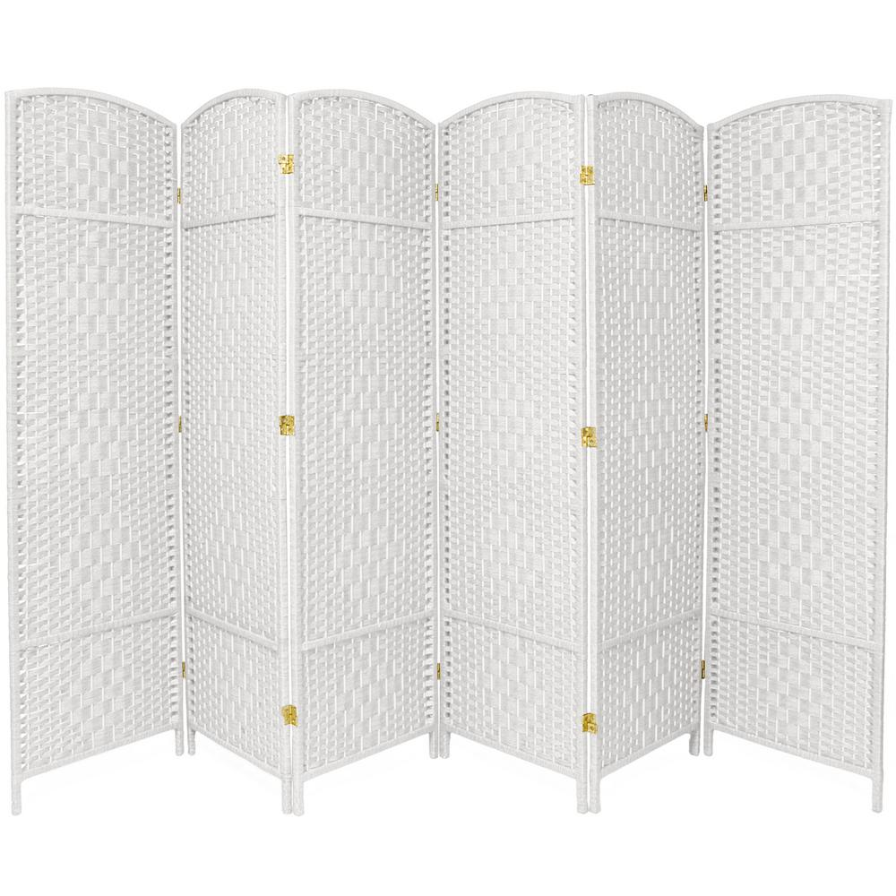 Room Dividers Home Depot Oriental Furniture 6 Ft White 6 Panel Room Divider Fbopdmnd6pwht