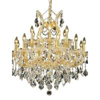 Elegant Lighting 19-Light Gold Chandelier with Clear ...