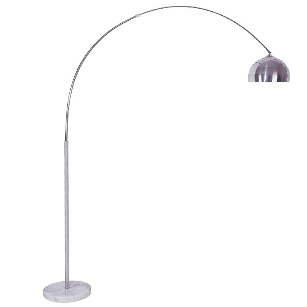 Small Arc Floor Lamp Ore International 85 In Arch Marble Base Silver Floor Lamp
