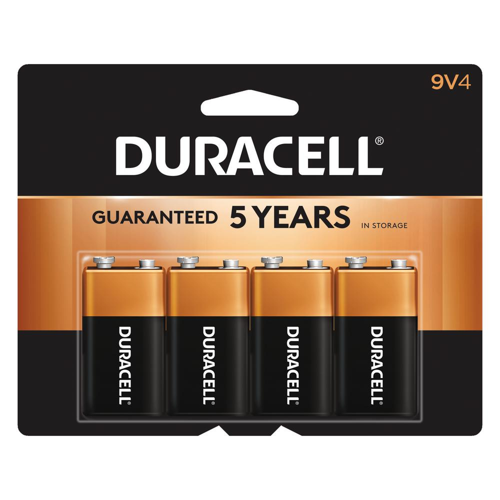 9 Volt Batterie Duracell Coppertop 9 Volt Alkaline Batteries 4 Pack