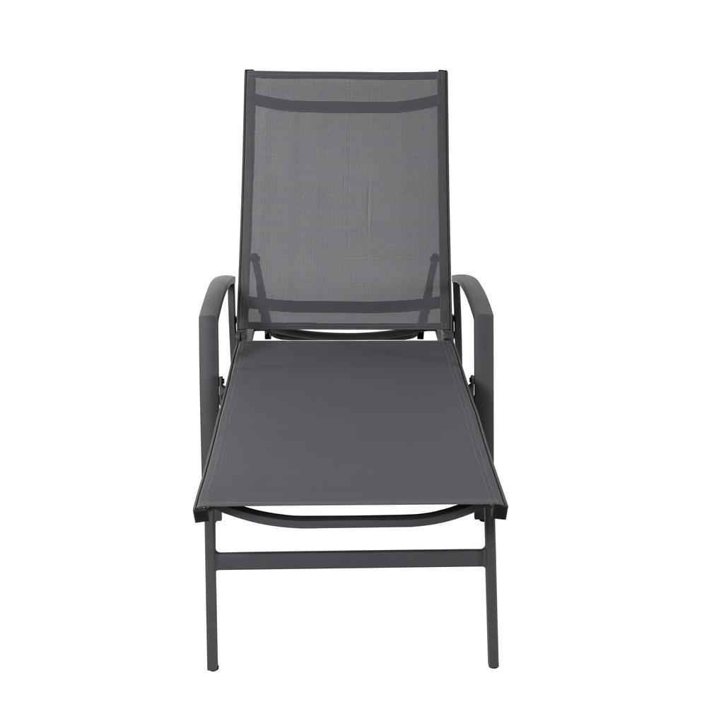 Chaise Cocktail Nuu Garden Grey 1 Piece Aluminum Outdoor Chaise Lounge