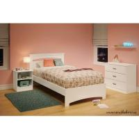 South Shore Libra Pure White Twin Bed Frame-3860189 - The ...