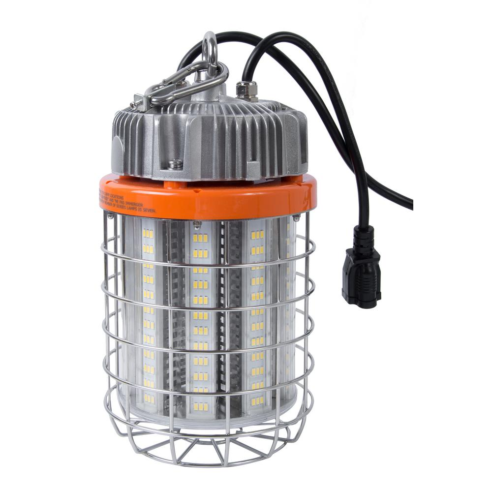 Luminaire Lighting Bergen Industries 60 Watt Led Luminaire Temporary Plug In Work Light Fixture Stainless Steel Cage