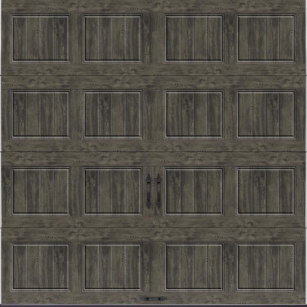 Garage Doors Rochester Ny Clopay Gallery Collection 8 Ft X 8 Ft 18 4 R Value Intellicore Insulated Solid Ultra Grain Slate Garage Door