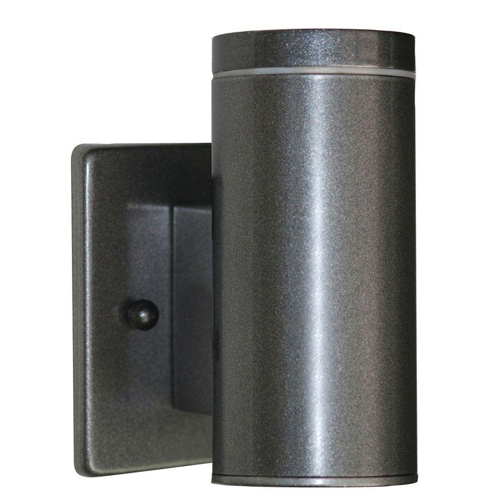 Eglo Riga Led Outdoor Wall Light Eglo Riga 1 Light Anthracite Outdoor Cylinder Wall Lantern Sconce