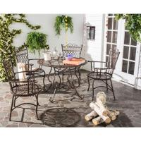 Patio Table and Chairs Set 5 Furniture Rustic Brown ...