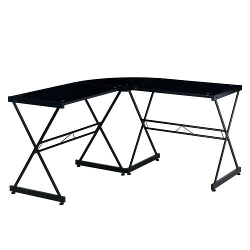 Medium Of Glass L Shaped Desk