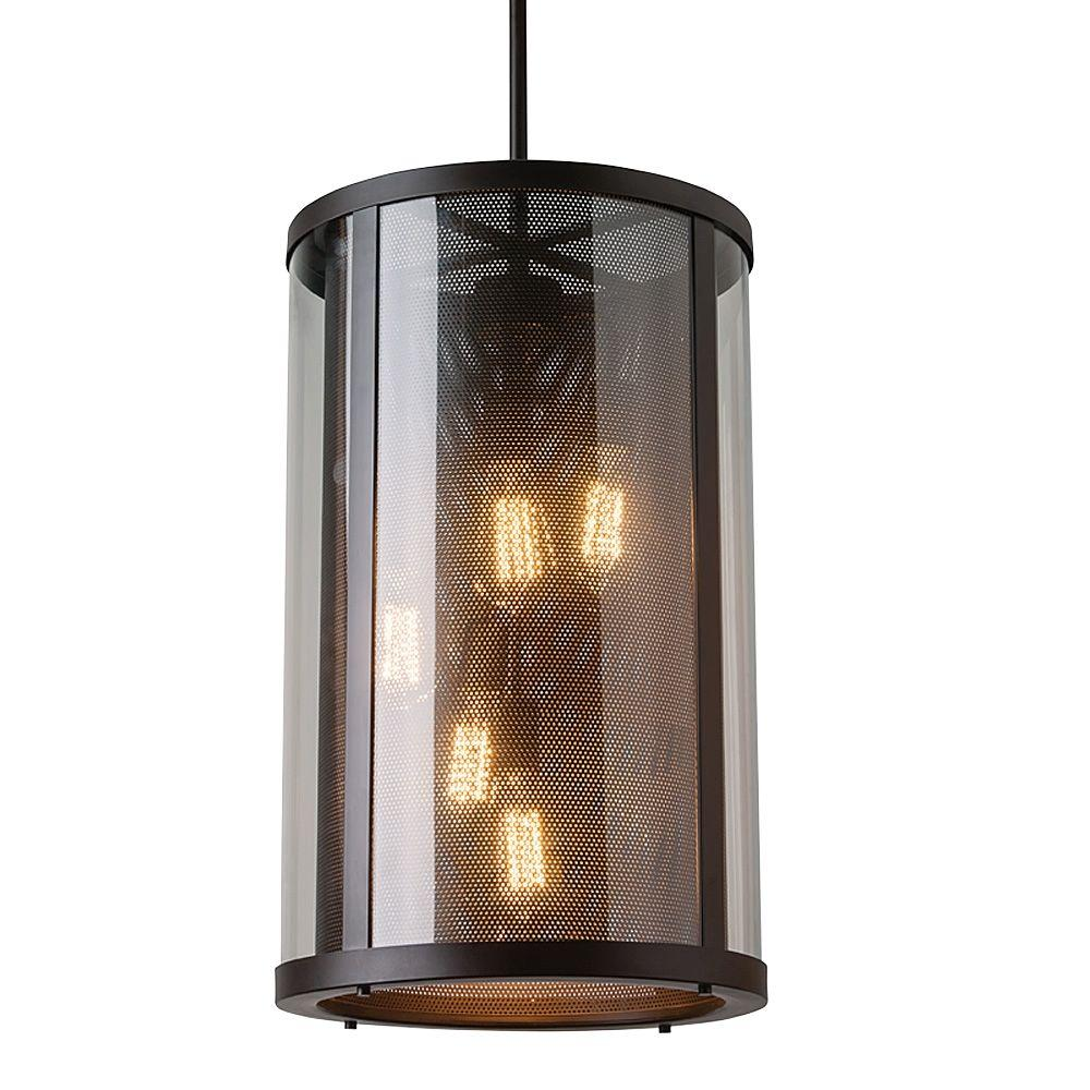 Outdoor Hanging Lamps Feiss Bluffton Collection 5 Light Oil Rubbed Bronze Outdoor Hanging Pendant