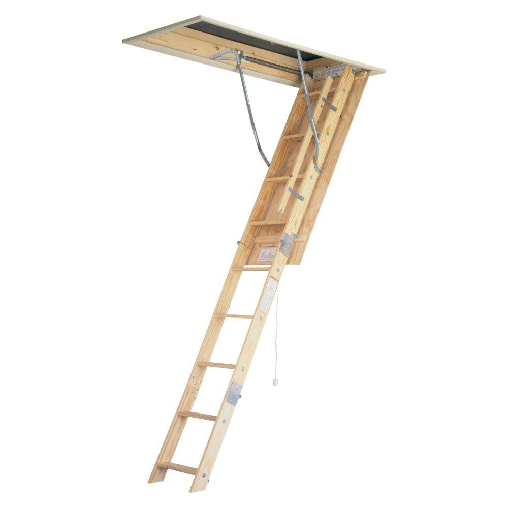 Pull Down Stairs For Loft 8 Ft 10 Ft 22 5 In X 54 In Universal Fit Wood Attic Ladder With 250 Lb Maximum Load Capacity