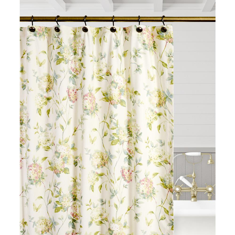 Traditional Curtains Ellis Curtain Abigail 72 In Multi Floral Shower Curtain
