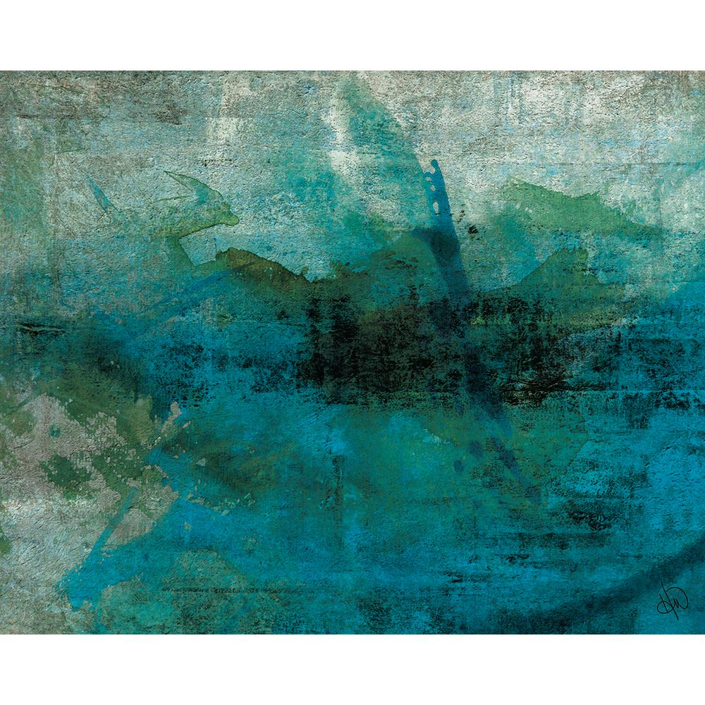 Abstract Art Prints On Canvas Creative Gallery 16 In X 20 In Teal Stained Stone Abstract Acrylic Wall Art Print