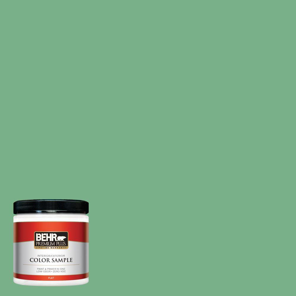Bank Home Depot Behr Premium Plus 8 Oz M410 5 Green Bank Flat Interior Exterior Paint And Primer In One Sample