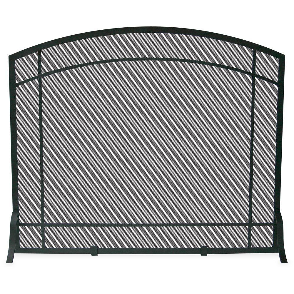 Fireplace Screen Home Depot Uniflame Black Wrought Iron Single Panel Fireplace Screen With Mission Design