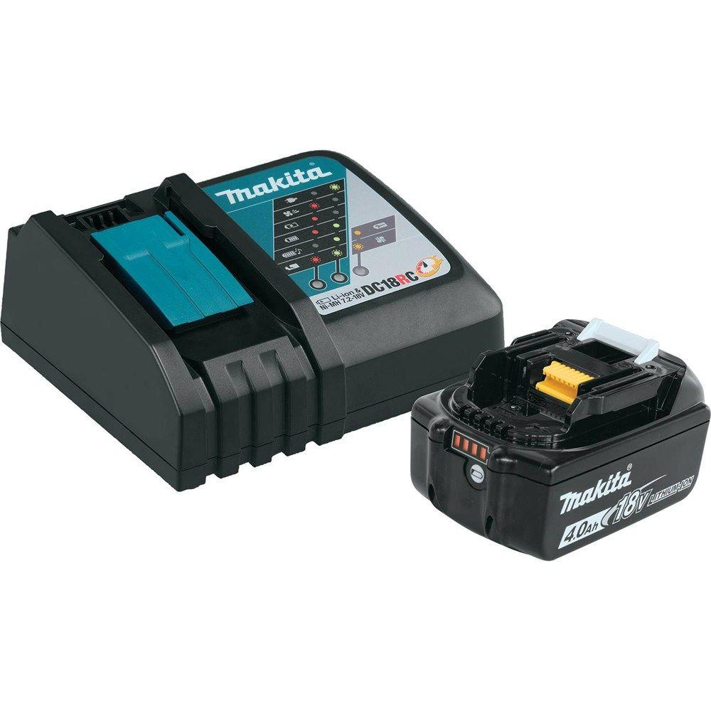Sierra De Mesa Makita 18 Volt Lxt Lithium Ion High Capacity Battery Pack 4 0ah With Fuel Gauge And Charger Starter Kit