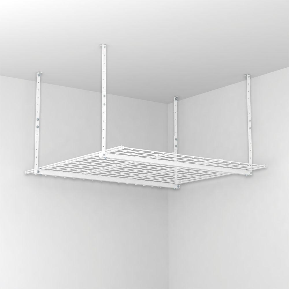 Hyloft 45 In W X 45 In D Garage Ceiling Mount Storage Unit In White 00540 The Home Depot