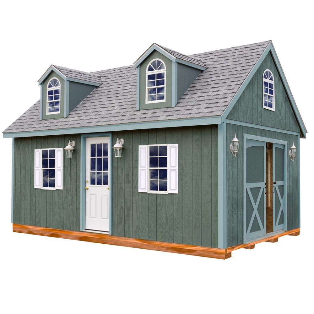 Home Depot Sheds For Sale Best Barns Arlington 12 Ft X 16 Ft Wood Storage Shed Kit With Floor Including 4 X 4 Runners