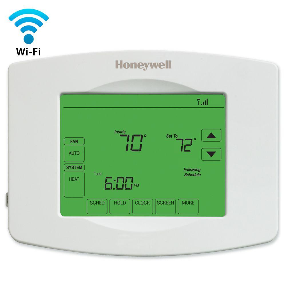 Honeywell Programmable Thermostat Honeywell Wi Fi Programmable Touchscreen Thermostat Free App