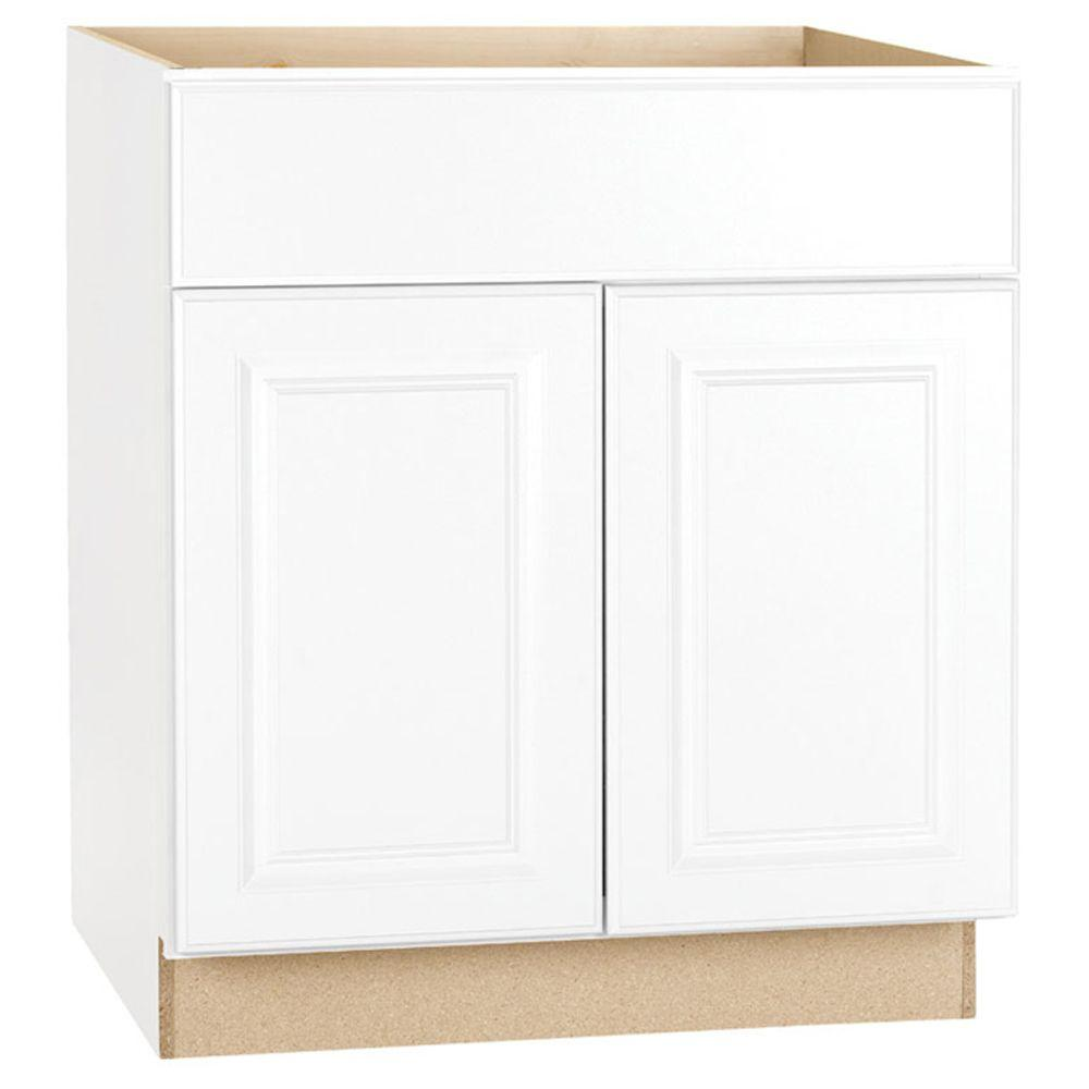 Kitchen Cupboard Doors 50 X 70 Hampton Assembled 30x34 5x24 In Base Kitchen Cabinet With Ball Bearing Drawer Glides In Satin White