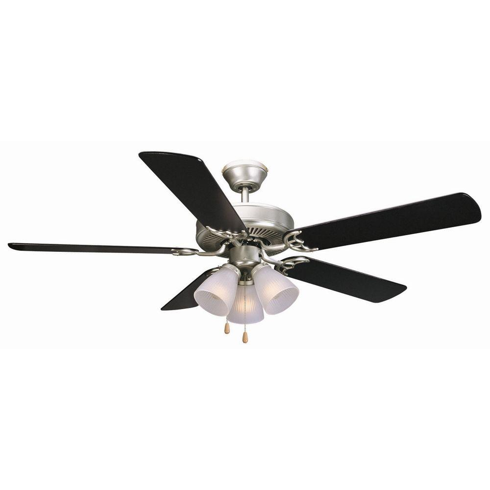 Black And Gold Ceiling Fan Design House Millbridge 52 In Satin Nickel Ceiling Fan