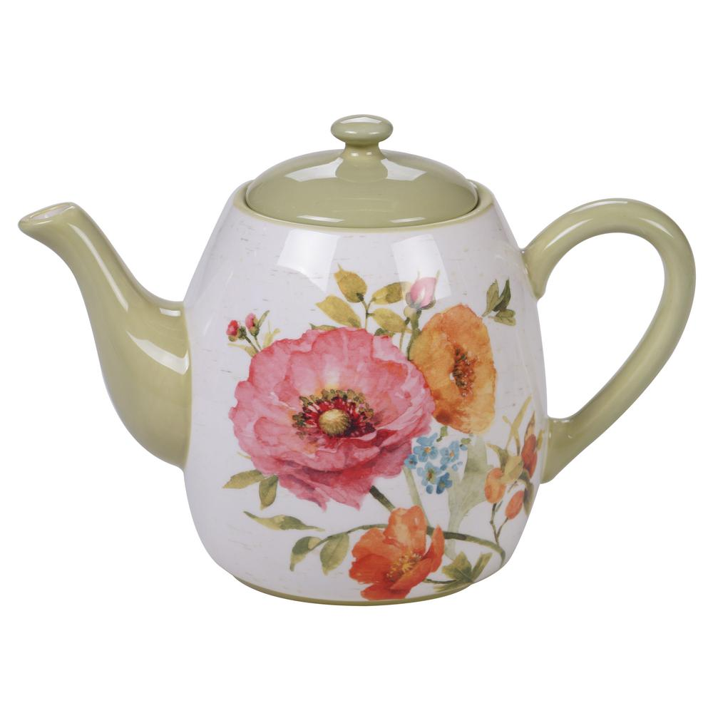 Teapot With Cup Country Fresh 5 Cup Multi Colored Teapot