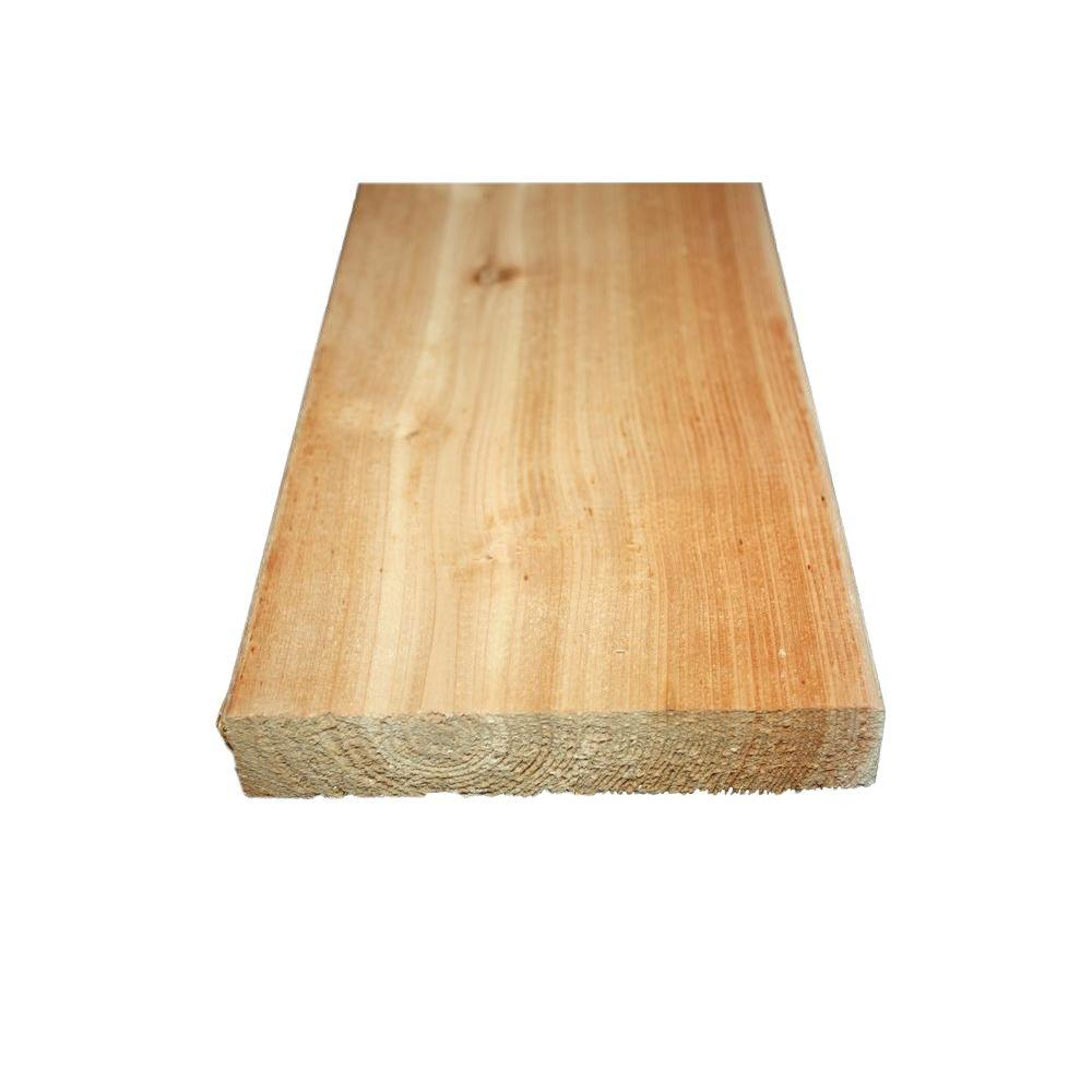 Home Depot Cedar Deck Boards 5 4 In X 6 In X 16 Ft Premium Radius Edge Cedar Decking Board